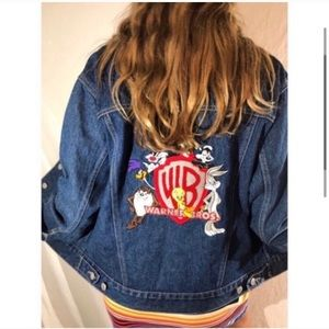 Looney Tunes 90's throwback patch denim